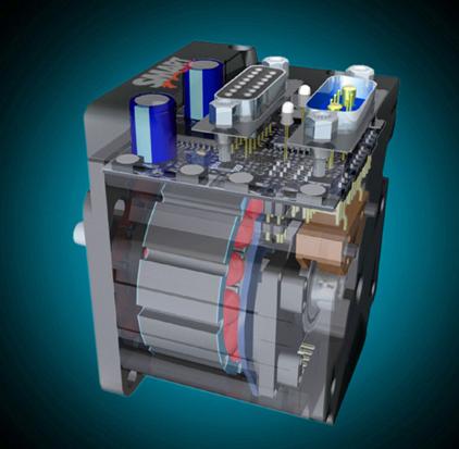 Smart motor cutaway